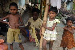 Poor Children in India Royalty Free Stock Image