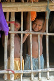 Poor Children in India Stock Photography
