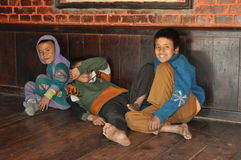 Poor children from Nepal Royalty Free Stock Photography