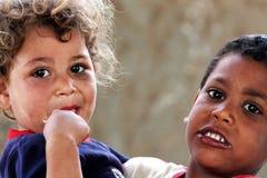 poor children in egypt stock images