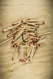Poor choice matches. Poor choice with matches pile Royalty Free Stock Photography