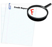 Poor credit report Stock Photography