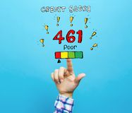 Free Poor Credit Score Theme With Hand Royalty Free Stock Images - 138873399