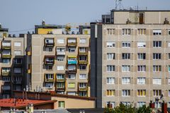 The crowded agglomeration flats royalty free stock photo