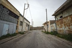 Poor and degraded area at Piraeus - Greece. Stock Photography
