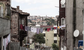 Poor district Fatih in Istanbul, Turkey Stock Image