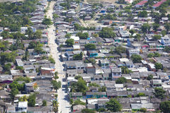 Poor district shantytown in Cartagena, Colombia Royalty Free Stock Image
