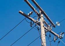 Poor electric installation Royalty Free Stock Photos