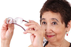 Poor eyesight Royalty Free Stock Photo