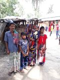A poor Family in Bangladesh. Poor Family in Bangladesh Royalty Free Stock Photos