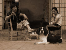 Poor family, life streets in the Central China Royalty Free Stock Images
