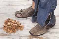 Poor feet Stock Image