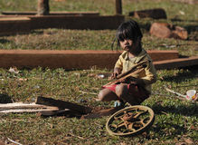 A Poor girl in Cambodia ethnic village Royalty Free Stock Photography