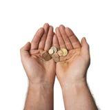 Poor hands Stock Image