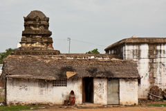 Poor Home in India. Poor home in front of a temple in Mahabalipuram, India Royalty Free Stock Photo