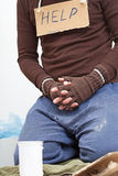 Poor homeless man Royalty Free Stock Image