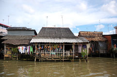 Poor households lives by Mekong river Stock Image