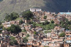 Poor houses in Caracas, Venezuela royalty free stock photography