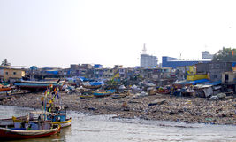 Poor houses in India, Mumbai Royalty Free Stock Photography