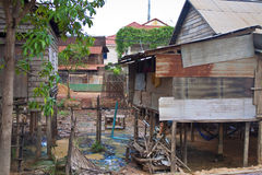 Poor houses in Siem Reap Royalty Free Stock Images