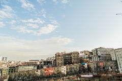 Poor housing seen from the streets of Istanbul Royalty Free Stock Images