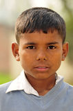 Poor indian child. Portrait of a poor indian child Royalty Free Stock Photography