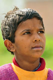 Poor indian child. Portrait of a poor indian child Stock Photo