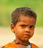 Poor indian child. Partratit of poor indian child Royalty Free Stock Photography