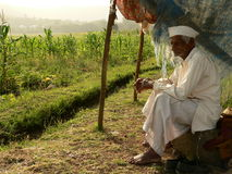 Poor Indian Farmer Royalty Free Stock Photography
