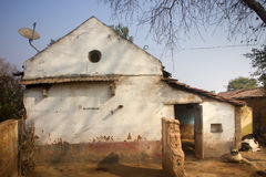 Poor Indian household farm 2. Andhra Pradesh, Anantapur. Poor Indian household farm 2. House poor, crumbling in yard. Andhra Pradesh, Anantapur stock images