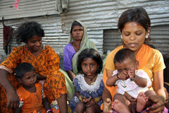 Poor Indian People. Poor people in India, happy with themselves Royalty Free Stock Photos