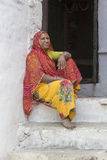Poor Indian woman. Pushkar, India Royalty Free Stock Photography