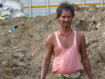 Poor Indian Worker stock photo
