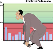 Poor job performance vector illustration