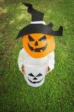 Poor kids play Halloween Royalty Free Stock Photo