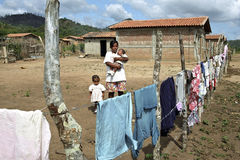 Poor life in the Nicaraguan countryside Stock Image