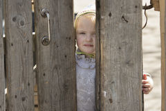 Poor Little Rural Girl Royalty Free Stock Image