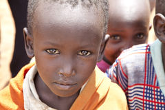 Poor Maasai boy Stock Photo