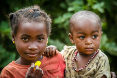 Poor malagasy children Royalty Free Stock Photography
