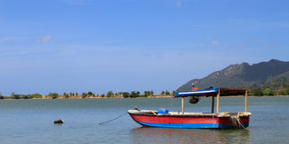 Poor man boat. Fishing boat in Asia royalty free stock photos