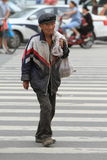 Poor Man in China. A poor man in China royalty free stock image