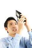 Poor man. Concept shot of Japanese people stock images