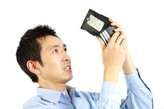 Poor man. Concept shot of Japanese people royalty free stock photography
