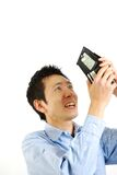 Poor man. Concept shot of Japanese people royalty free stock photos