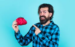 Free Poor Man Need Some Money. Loan In Crises. Have Money Saving. Ready To Go Shopping. Bearded Hipster In Checkered Shirt Stock Photography - 208211342