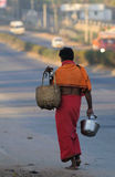 A poor man in slum Stock Images