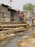 Poor man in the slums in India Royalty Free Stock Photo