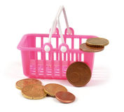 Poor money basket Royalty Free Stock Images