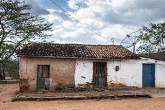 Mud house in Brazil Stock Images