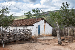 Mud house in Brazil Royalty Free Stock Photos